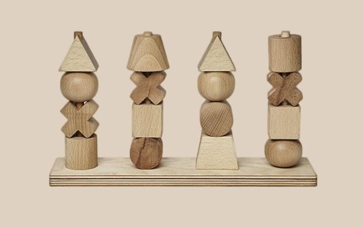 Wooden Story Steckspielzeug für Kinder ab 1 Jahr