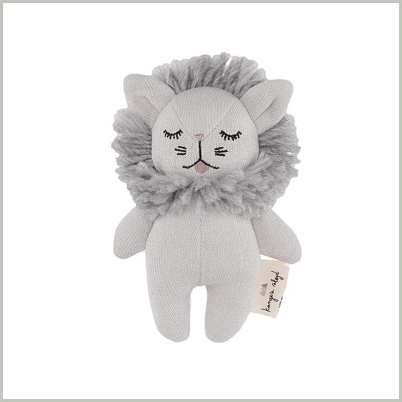 Babyspielzeug 3 Monate: Rassel Löwe von Konges Sløjd